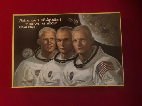 "1969, ""Un-Opened"" Astronauts of Apollo 11 Puzzle (Scarce / Vintage)"
