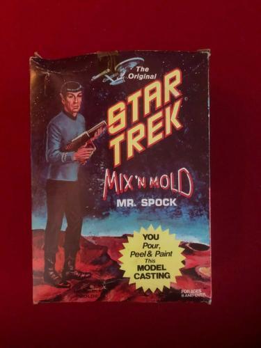 "1969, ""Un-Used"", Star Trek / Mr. Spock ""MIX'N MOLD"" Model (Scarce / Vintage)"