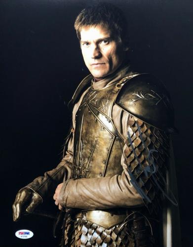 Nikolaj Coster Waldau Signed 'Game Of Thrones' 11x14 Photo PSA AF37566