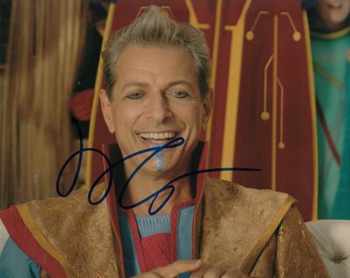 JEFF GOLDBLUM signed (THOR RAGNAROK) 8X10 photo *Grandmaster* PROOF W/COA #2