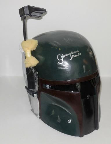 """Jeremy Bulloch Autographed """"boba Fett"""" Full-sized Helmet (star Wars) - Jsa Coa!"""