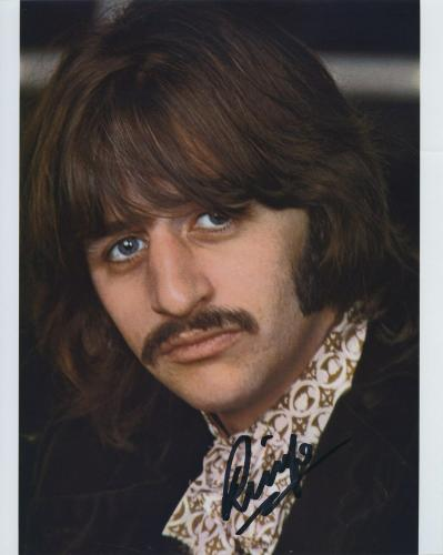 RINGO STARR SIGNED AUTOGRAPHED COLOR 8x10 PHOTO BAS BECKETT THE BEATLES FAB 4