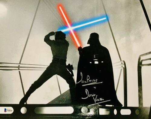 Dave Prowse Signed Star Wars Darth Vader 11x14 Photo - Beckett BAS 25