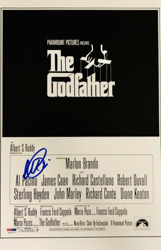 Al Pacino Signed 11 x 17 The Godfather Movie Poster Photo The Don - PSA DNA 1