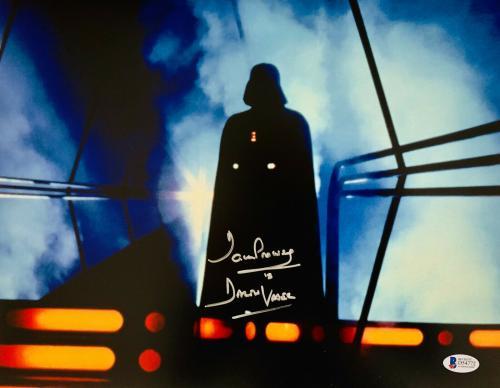 Dave David Prowse Signed Star Wars Darth Vader 11x14 Photo Beckett BAS 18
