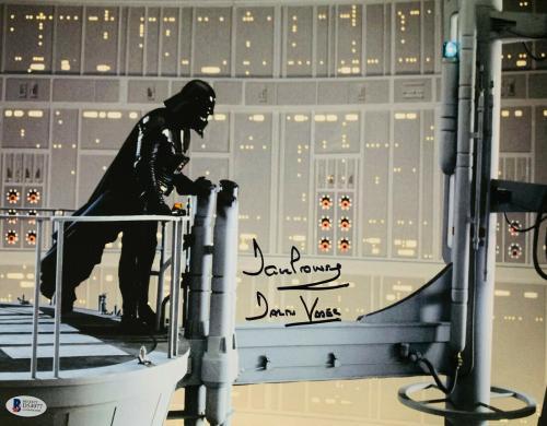 David Dave Prowse Signed Star Wars Darth Vader 11x14 Photo Beckett BAS 21