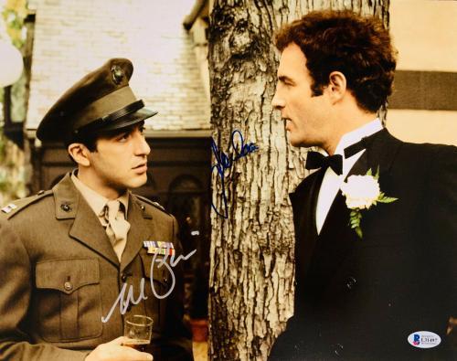 James Cahn & Al Pacino Signed 11 x 14 The Godfather Photo - Beckett BAS COA 2