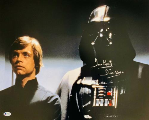 Dave Prowse Authentic Signed Star Wars Darth Vader 16x20 Photo Beckett BAS 30