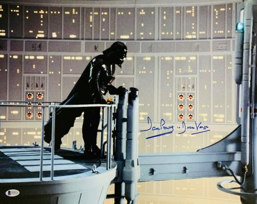 Dave Prowse Authentic Signed Star Wars Darth Vader 16x20 Photo Beckett BAS 28