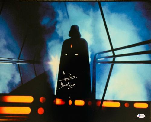 Dave Prowse Authentic Signed Star Wars Darth Vader 16x20 Photo Beckett BAS 26