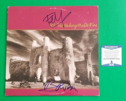 BONO AND EDGE SIGNED U2 UNFORGETTABLE FIRE ALBUM CERTIFIED WITH BAS COA psa jsa
