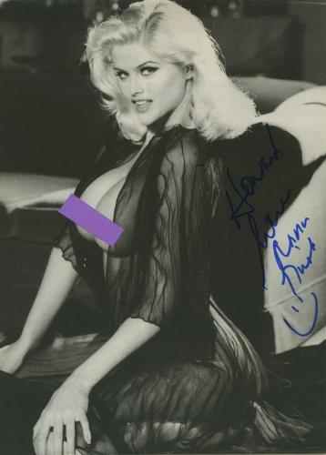 Anna Nicole Smith Signed Autographed Magazine Page Bas Beckett Coa To Howard