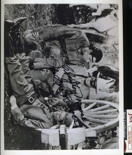 Clayton Moore Jsa Cert Hand Signed 8x10 Lone Ranger Photo Autograph
