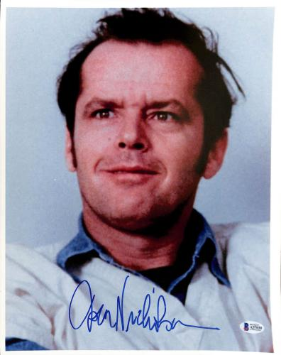 Jack Nicholson One Flew Over The Cuckoo's Nest Signed 12x15 Photo BAS #A57030