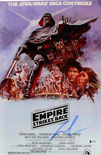 George Lucas Star Wars The Empire Strikes Back Signed 12x18 Photo BAS #A57194