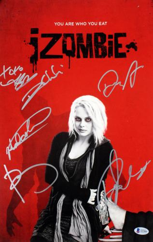 iZombie (6) Rose Mciver, Rahul Kohli +4 Signed 11x17 Photo BAS #A57095