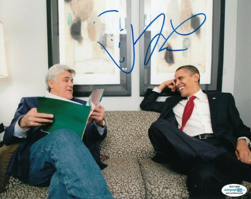 JAY LENO signed (THE TONIGHT SHOW) 8x10 photo autographed ACOA Authentic #1