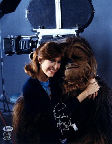 "PETER MAYHEW Signed  STAR WARS ""Chewbacca"" 11x14 Photo BECKETT BAS #F04289"