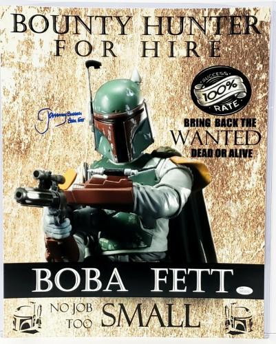 "JEREMY BULLOCH Signed STAR WARS ""Boba Fett"" 16x20 Photo JSA Witnessed #WP234378"