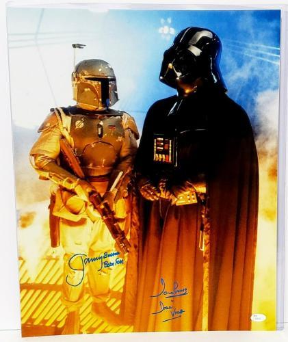 JEREMY BULLOCH & DAVE PROWSE Signed STAR WARS 16x20 Photo JSA #S88362