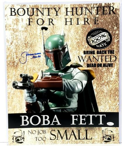 "JEREMY BULLOCH Signed STAR WARS ""Boba Fett"" 16x20 Photo JSA Witnessed #WP234377"