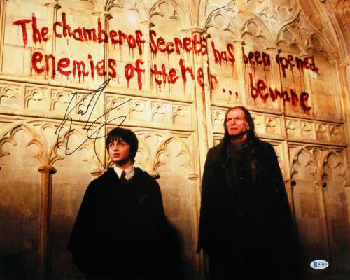 Daniel Radcliffe Harry Potter Chamber of Secrets Signed 16x20 Photo BAS #H44819