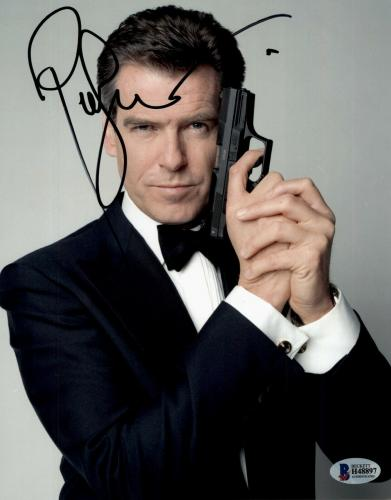 Pierce Brosnan Signed Autographed 8x10 Photo Beckett James Bond 007
