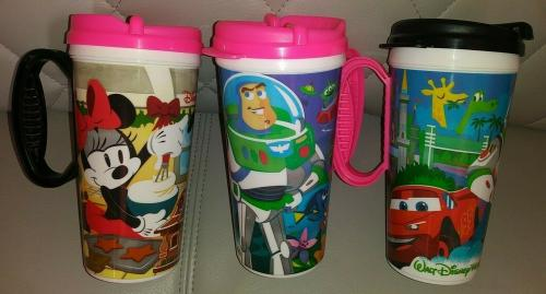 3pc Lot Disney Parks Souvenir Refillable Insulated Plastic Cup Mugs Toy Story