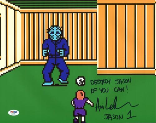 "Ari Lehman ""Destroy Jason If You Can"" Signed Friday The 13th 11X14 Photo PSA/BAS"