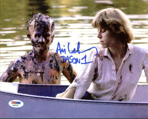 "Ari Lehman ""Jason 1"" Signed Friday The 13th 8X10 Photo PSA/BAS 12"