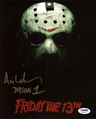 "Ari Lehman ""Jason 1"" Signed Friday The 13th 8X10 Photo PSA/BAS 2"