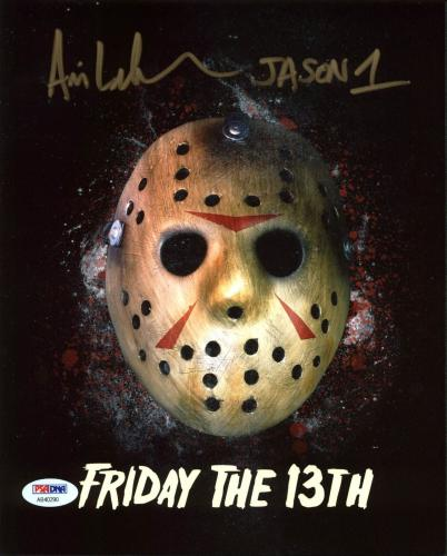 "Ari Lehman ""Jason 1"" Signed Friday The 13th 8X10 Photo PSA/BAS 6"