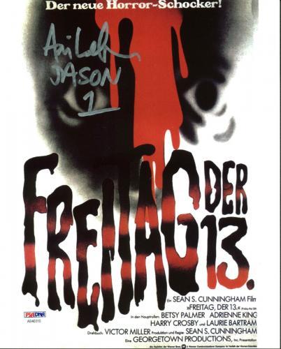 "Ari Lehman ""Jason 1"" Signed Friday The 13th 8X10 Photo PSA/BAS 7"