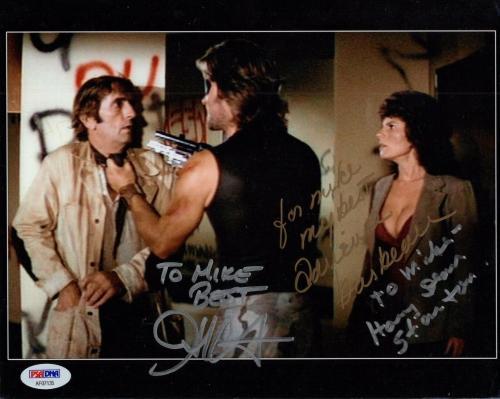 JOHN CARPENTER+STANTON+ADRIENNE BARBEAU SIGNED 8x10 PHOTO   TO MIKE   JSA LETTER
