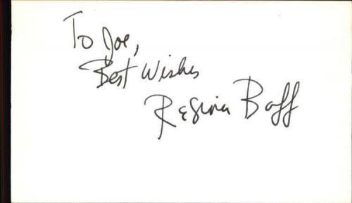 """Regina Baff Actress Escape from Alcatraz Signed 3"""" x 5"""" Index Card"""