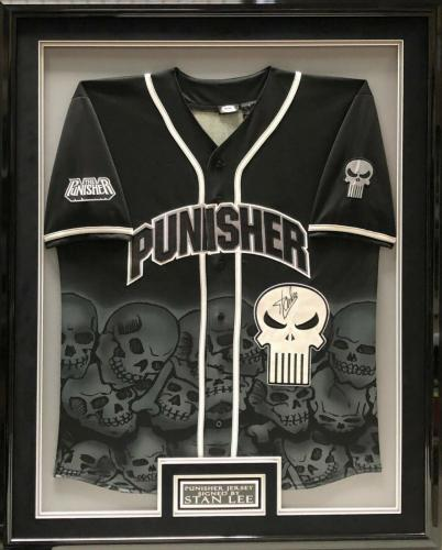 Stan Lee Signed/Framed Marvel 'The Punisher' Jersey PSA X79951