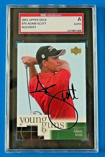 2001 Upper Deck Adam Scott Signed Golf Trading Card ~ Sgc Auth 058