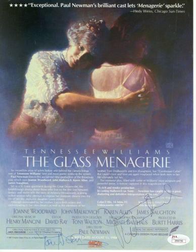 Paul Newman Joanne Woodward Autographed Magazine Page Glass Menagerie JSA Z99739