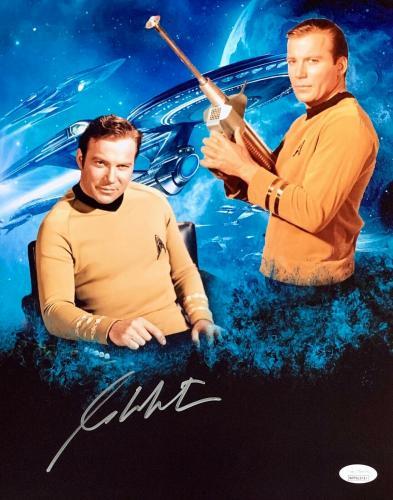 William Shatner Star Trek Signed Autographed 11x14 Photo JSA Authenticated 1