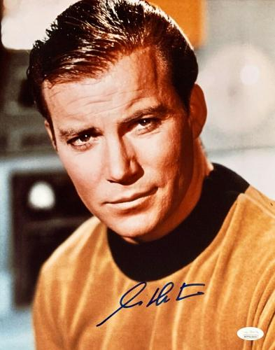 William Shatner Star Trek Signed Autographed 11x14 Photo JSA Authenticated 4