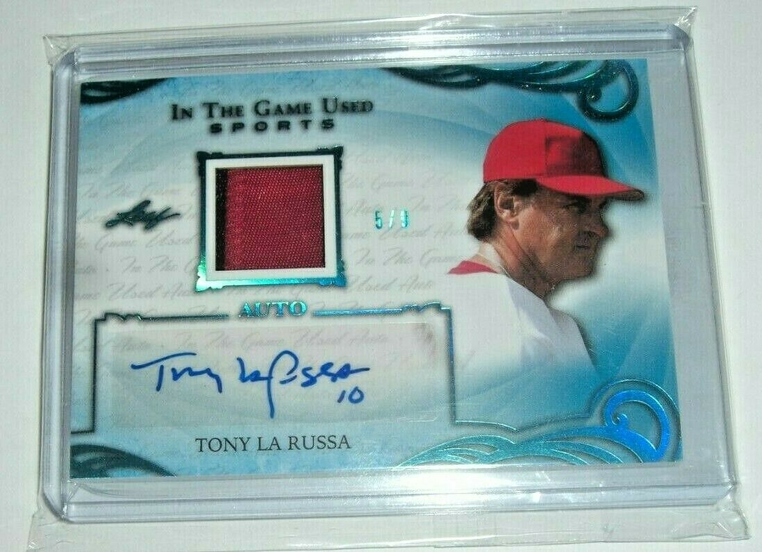 Tony Larussa 2019 In The Game 2 Color Game Used Jersey Auto 5 9 Signed Card Authentic Autographed