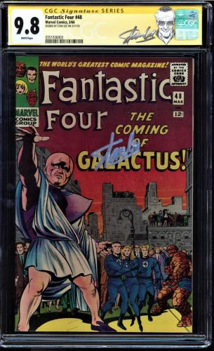 Fantastic Four #48 Cgc 9.8 White Pages Ss Stan Lee Cgc #0351036003