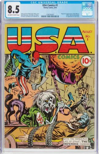 USA COMICS #1 CGC 8.5 OWW EARLY STAN LEE STORY (3 mo after Cap #3) 1294745001