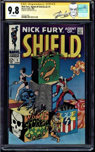 Nick Fury Agent Of S.h.i.e.l.d. #1 Cgc 9.8 White Pages Ss Stan Lee #0351031006