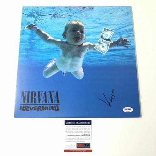 Krist Novoselic Signed Nirvana LP Vinyl PSA/DNA Album autographed Nevermind