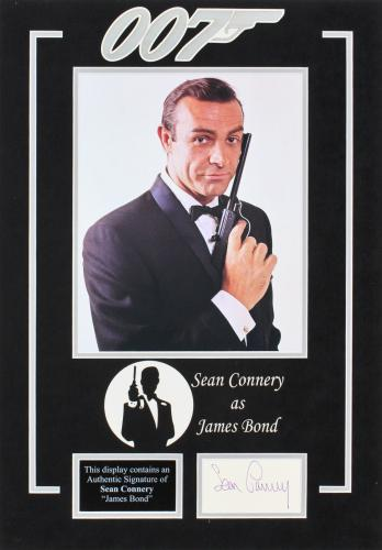 Sean Connery James Bond 007 Signed & Matted Cut Signature JSA #BB23171
