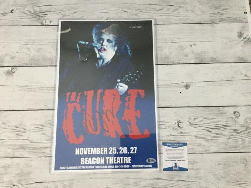 Robert Smith The Cure Signed Autographed Tour Poster Beckett BAS COA a
