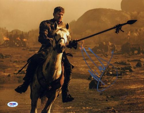 Nikolaj Coster Waldau Signed Game Of Thrones 11x14 Photo *Lannister PSA AF61756