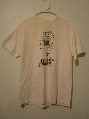 Slash Guns & Roses JONESY'S JUKEBOX White T Shirt OWNED BY SLASH & PERLA