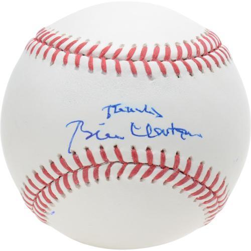 "President Bill Clinton Autographed Baseball with ""thanks"" Inscription - PSA"